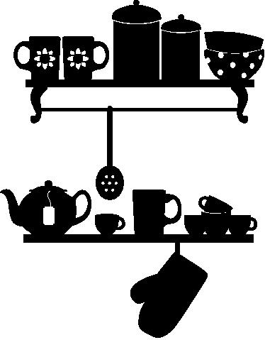 sticker decorativo scaffali cucina