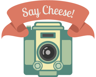 "TenStickers. Say Cheese Wall Sticker. Vintage decal illustrating a camera and ""say cheese"" banner. Fantastic design from our collection of retro wall stickers to personalise your place!"