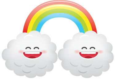 TenStickers. Manga Rainbow Kids Decal. A superb design of a manga rainbow from our exclusive collection of rainbow wall art stickers. A fun illustration with two smiling clouds.
