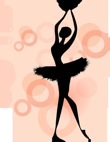 TenStickers. стикер стикер силуэт балерина. Комнатные наклейки - силуэт балерины. отличная настенная наклейка для тех, кто интересуется искусством балета.