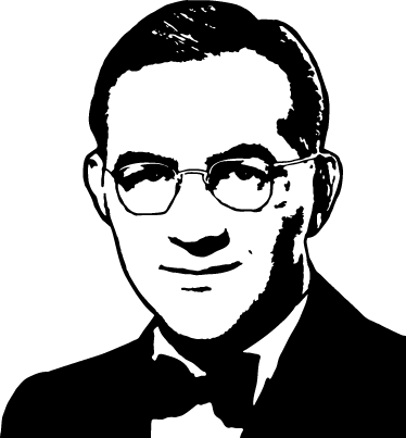 TenStickers. Benny Goodman Portrait Sticker. A sticker from our jazz collection of this famous composer of the mid-twentieth century.