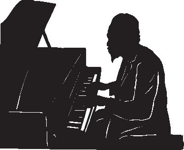 TenStickers. Autocolante decorativo de música Monge Thelonious. Autocolantes decorativos de música - contorno da silhueta do Monge Thelonious, pianista de jazz americano e compositor.