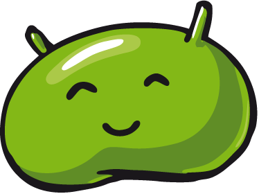 TenStickers. Comic Android Logo Laptop Sticker. Laptop Stickers - Personalise your laptop or device with this fun and playful comic illustration of the android logo.