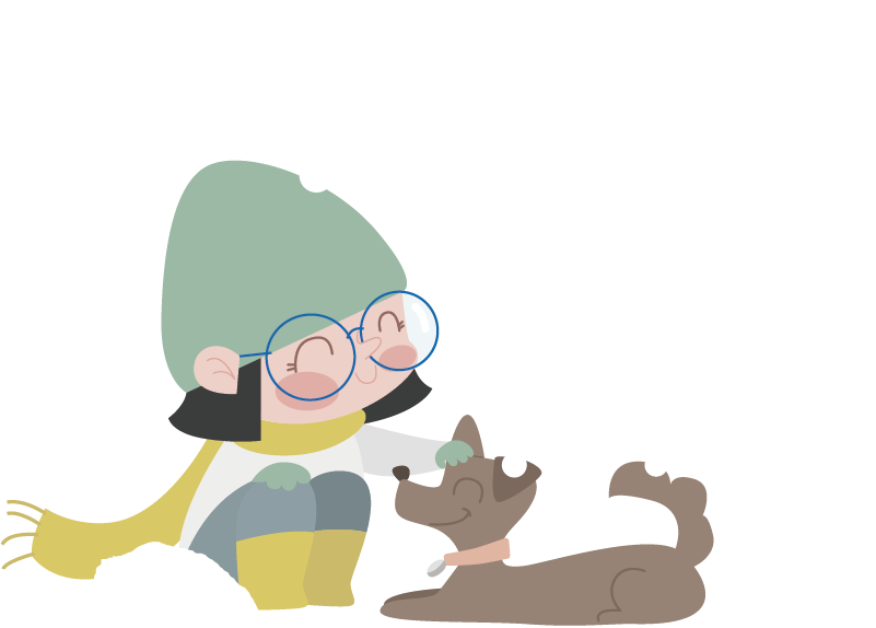 TenStickers. Kids Stickers Winter Girl Toddler. Kids wall sticker art - illustration of a girl who is ready to have some fun and play in her winter gear.Ideal decals for decorating nurseries