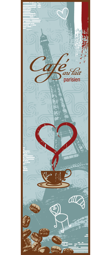 TenStickers. French Coffee Fridge Sticker. French coffee themed design ideal to give your fridge an original appearance! This coffee wall art decal is perfect to give your kitchen a new look.