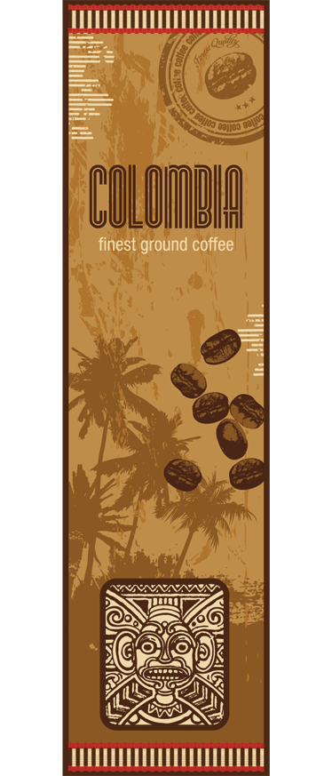 TenStickers. Colombian Coffe Fridge Sticker. A wonderful coffee wall art decal illustrating Colombian coffee to decorate your fridge! A must have for those that love coffee.