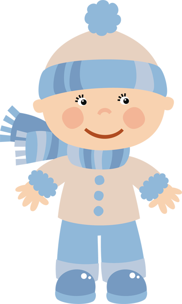 TenStickers. Toddler Dressed For Winter Sticker. Kids wall sticker with an illustration of a little boy who is ready to have some fun and play in his winter gear.