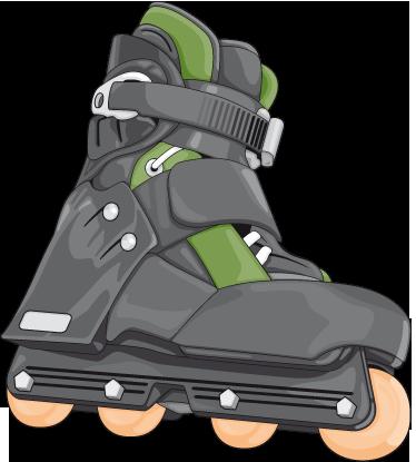 TENSTICKERS. インラインスケートステッカー. あなたがスケートの世界のファンなら、この現実的なイラストで部屋を飾りましょう。
