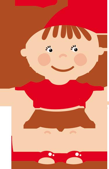TenStickers. Sticker enfant casquette rouge. Une fillette en short, casquette et sandalettes rouges pour apporter une touche de couleur et décorer la chambre de votre enfant.