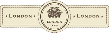 TenStickers. London Vintage Label Decal. Elegant and classic design illustrating a London label from our retro wall stickers collection to decorate your home or business.
