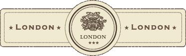 TenStickers. Muursticker London label. Deze muursticker omtrent een klassiek en elegant ontwerp van een vintage sticker van London. Ideaal voor verscheidene doeleinden.