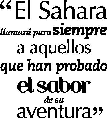 TenVinilo. Vinilo decorativo frase Sáhara. Original composición tipográfica en adhesivo para los aventureros.