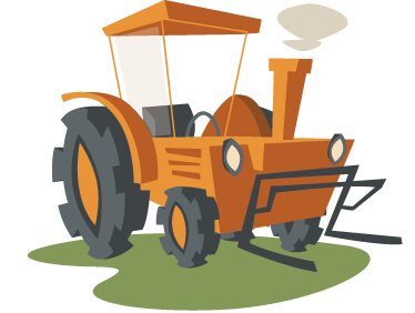 TenStickers. Yellow Tractor Wall Sticker. A kids ddecal illustrating a yellow tractor from our collection of tractor wall stickers!