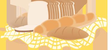 TenVinilo. Vinilo decorativo pan. Adhesivo con pan de molde, barra de pan y panecillo. Un buen diseño para panaderías y también para cocinas de viviendas particulares.