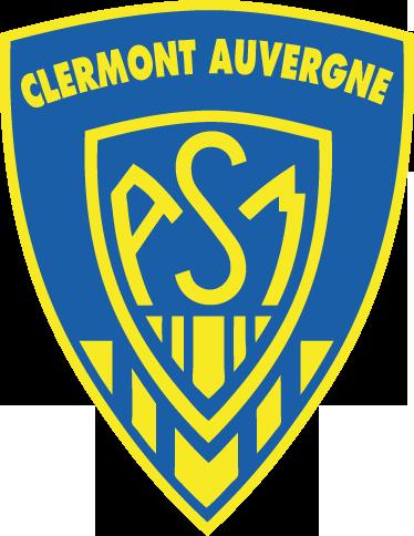 TenStickers. Sticker embleme Clermont Auvergne. Stickers représentant le logo de l'équipe de rugby créé en 1911 par Marcel Michelin : Le ASM Clermont Auvergne.