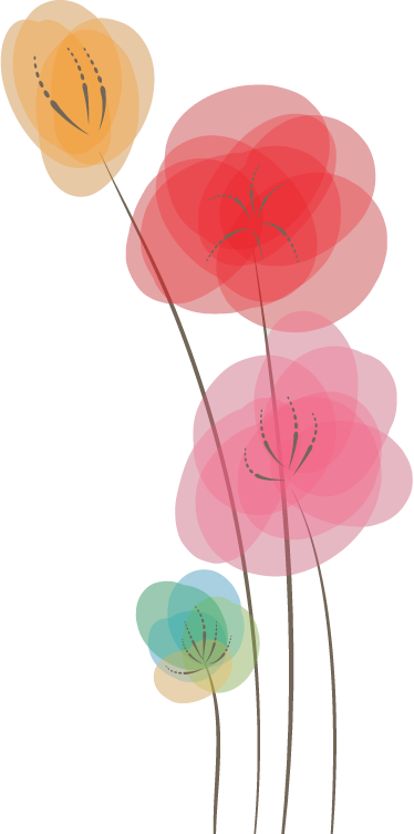 TenStickers. Colourful Poppies Wall Sticker. A floral design of poppies in various colours and overlaying shades from our superb collection of poppies wall stickers.