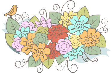 TenStickers. Corsage Floral Decal. Decals - Colourful floral illustration to give a spring touch to your home. Ideal for decorating the walls, cupboards and appliances.