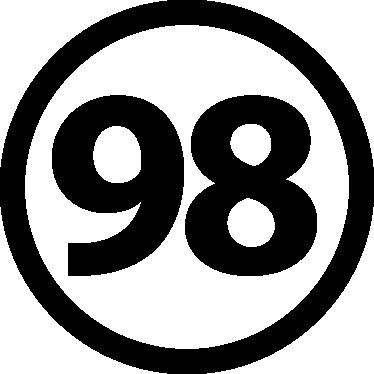 Unleaded 98 Vehicle Sticker - ...