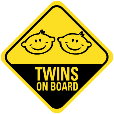 "TenStickers. Twins On Board Car Sticker. Car Stickers - Encourage safe drving around you with this ""Twins On Board"" sticker. Available in various sizes."