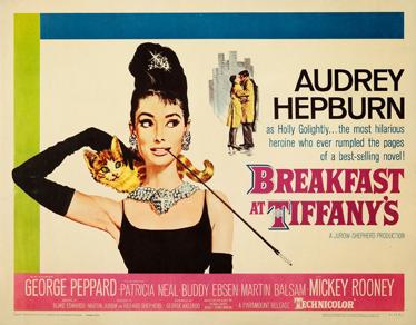 TenVinilo. Cartel adhesivo Breakfast Tiffanys. Poster en vinilo de este famoso film protagonizado por Audrey Hepburn.