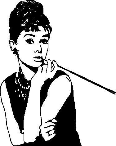 TenVinilo. Vinilo decorativo Audrey Hepburn. Original adaptación en adhesivo del famoso retrato de esta fantástica actriz del cine estadounidense.