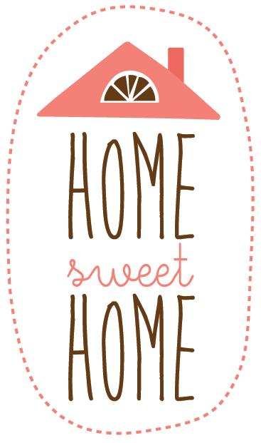 """TenStickers. Vinil decorativo Home Sweet Home. Vinil decorativo com uma das frases mais famosas de sempre """"Home Sweet Home"""" (Casa Querida Casa). Transforma a tua casa num ambiente acolhedor."""