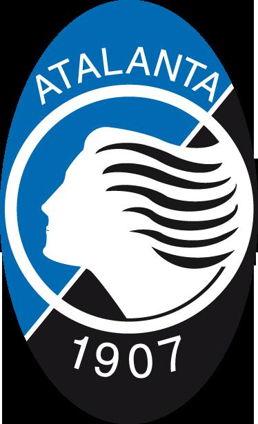 TenStickers. Adesivo murale logo Atalanta. Sticker decorativo di forma ellittica che raffigura il logo bianco, nero e blu della nota squadra di calcio della città di Bergamo.