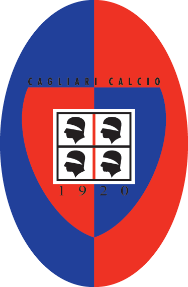TenStickers. Adesivo murale logo Cagliari Calcio. Adesivo murale della nota squadra di calcio del capoluogo sardo; dedicato ai tifosi piú affiatati.