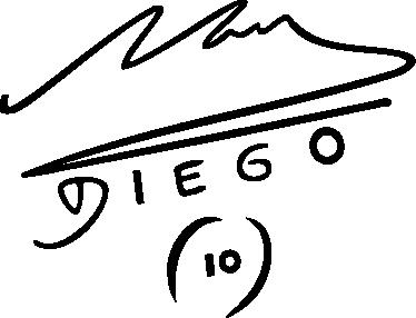 TenStickers. Adesivo murale firma Maradona. Se sei un fan del miglior giocatore di tutti i tempi, non puoi farti mancare questo speciale sticker.