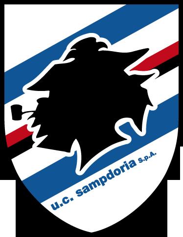TenStickers. Adesivo murale logo UC Sampdoria. Sticker raffigurante l'emblema della nota squadra di calcio genovese. Dedicato ai tifosi piú affiatati.