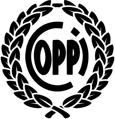 TenVinilo. Vinilo decorativo Fausto Coppi. Emblema en adhesivo monocolor de una corona de laurel envolviendo el apellido de este famoso ciclista italiano.