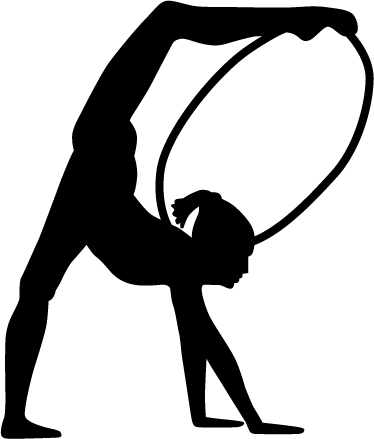 hoop gymnast silhouette wall sticker