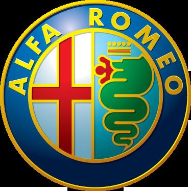 TenVinilo. Adhesivo emblema Alfa Romeo. Recreación realista en vinilo del logotipo de esta mítica marca de automóviles italiana.