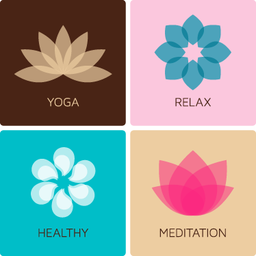TenStickers. Four Meditation Decorative Decals. Decorate your home with these four wall stickers, all of these are associated with relaxation and wellbeing.