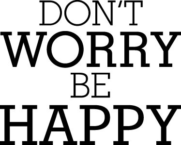 "TenStickers. Don´t Worry Be Happy Wall Sticker. Song Lyrics wall stickers - From the classic hit song in 1988, ""Dont Worry, Be Happy"" by Bobby McFerrin. One of our many motivational wall stickers."