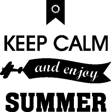 TenVinilo. Vinilo decorativo enjoy summer. Llega el verano y ahora puedes hacer partícipe a los demás con este original adhesivo de texto.