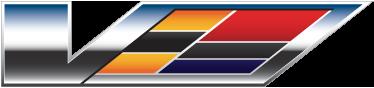 TenVinilo. Vinilo logotipo Cadillac V series. Recreación tridemensional en pegatina de un logo de la famosa marca de vehículos americanos.