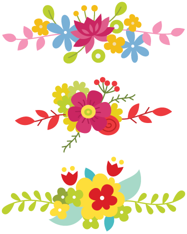 bright floral border decal tenstickers