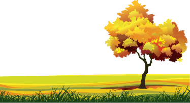 TenStickers. Horizon Meadow Wall Sticker. Kids Wall Stickers - Illustration of a golden landscape. Distinctive feature in any room. Suitable for all ages. Available in various sizes.