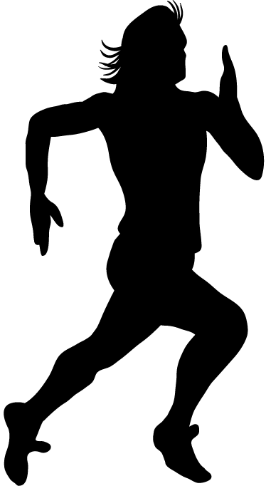 TenStickers. Sprinter Silhouette Wall Sticker. Wall Stickers - Outline illustration of a male sprinter with long hair. Decals made from high quality vinyl, easy to apply and remove.