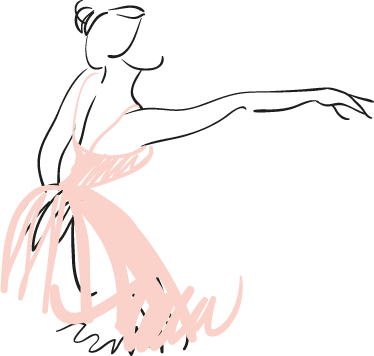 TenStickers. Ballerina Wall sticker. A sketch of a ballerina with her pink tutu. Brilliant dance wall sticker to personalise your room and dance in the right atmosphere.