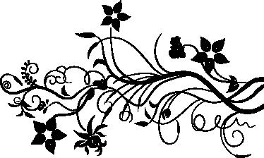 Sticker klimop bloemen decoratie