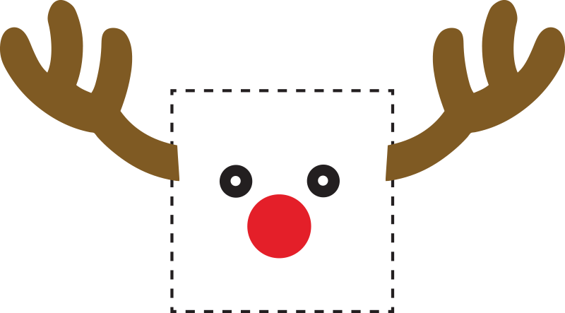 TenStickers. Rudolph Reindeer Light Switch Sticker. Christmas wall stickers - Decorate your light switches with a decorative Rudolph the red-nosed reindeer decal. A cool design from our funny wall stickers collection.