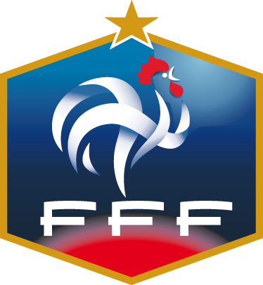 TenStickers. Sticker logo FFF. Le célèbre logo de la Fédération Française de Football sur sticker pour personnaliser la chambre des footeux.