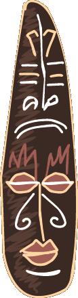 TenStickers. 토템 벽 스티커. 방 스티커-아프리카 문화 테마. 토템의 풍자 만화. 집 꾸미기를위한 이상적인 원본 데칼.
