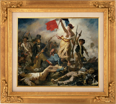 "TenStickers. Delacroix Freedom Sticker. ""Liberty Leading the People""; the famous painting by Eugene Delacroix in an easy to apply sticker to place anywhere in your home."