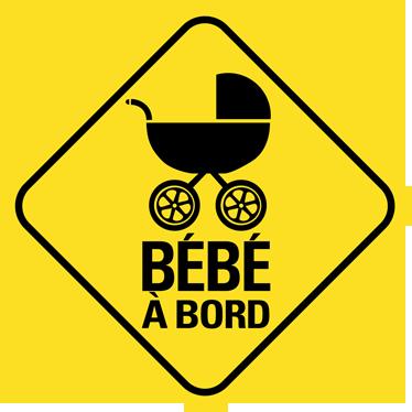 TenStickers. Sticker bébé à bord poussette losange. Indiquez la présence de bébé à bord de la voiture grâce à cet autocollant original en forme de losange.