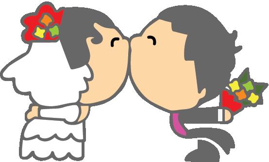 Pegatina decorativa pareja boda  TenVinilo