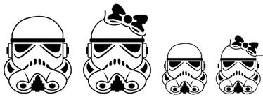 TenStickers. Sticker famille Stormtroopers. Personnalisez votre véhicule avec cet original sticker galactique impérial. Pour faire apparaître deux garçons, deux filles ou votre combinaison.