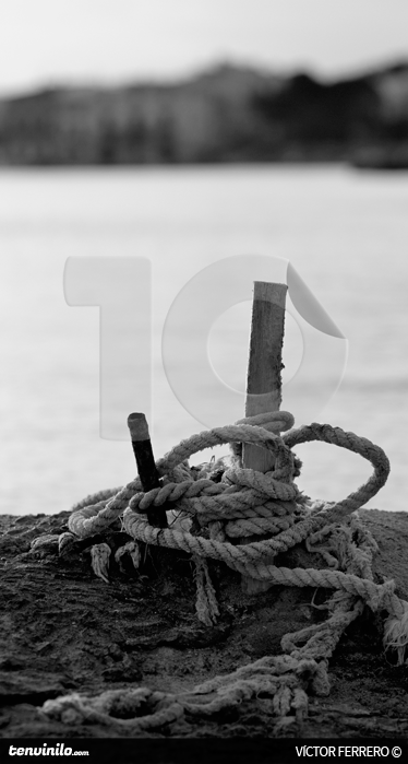 TenStickers. Marine Port Photography Wall Mural. Photo Murals - Marine black and white photographic art.  Style your home or business with simple and original photography